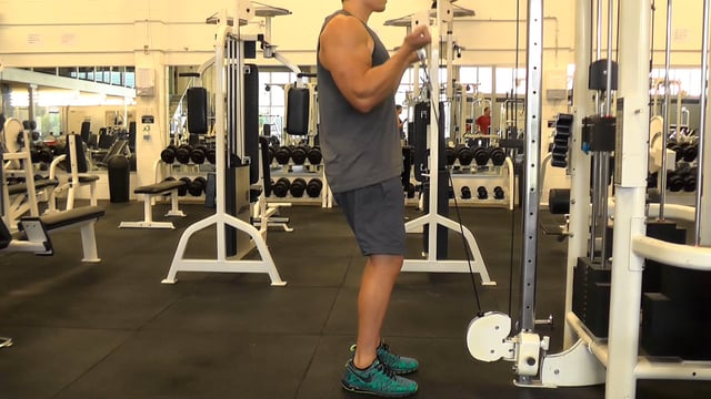 Straight Bar Cable Curls