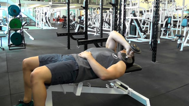 Single Arm Dumbbell Across Body Tricep Extension