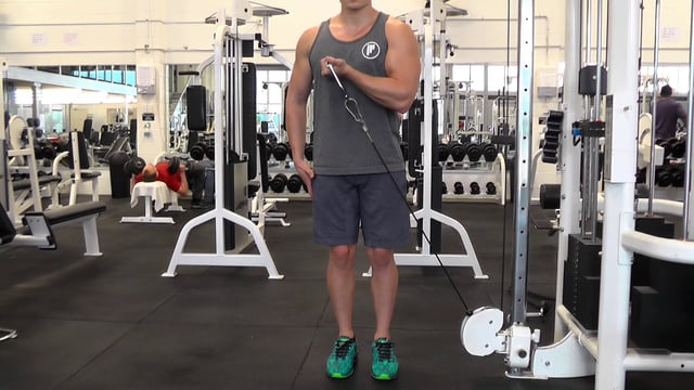 Single Arm Across Body Cable Curl