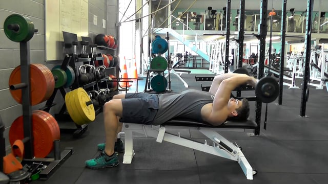 Flat Barbell Tricep Extensions