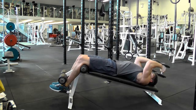 Decline Dumbbell Tricep Extensions
