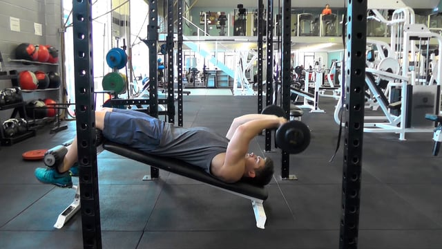 Decline Barbell Tricep Extensions