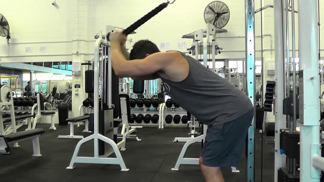Cable Over The Head Tricep Extension With Rope