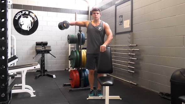 Single Arm Dumbbell Lateral Raise