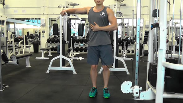 Single Arm Cable Lateral Raise