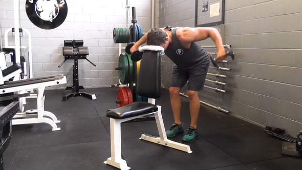 Rear Delt Flye With Head On Bench