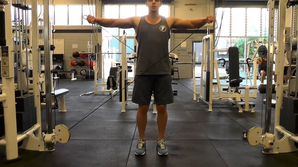 Double Arm Cable Lateral Raise