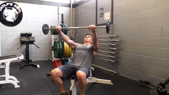 Barbell Front Raise On Incline Bench