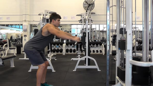 Straight Arm Wide Grip Pulldown