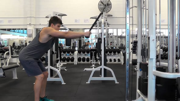 Straight Arm Rope Pulldown