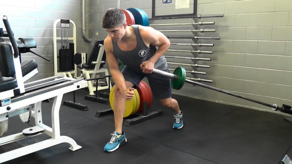 Single Arm Barbell Bent Over Row